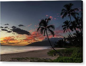 Charley Young Beach Sunset Canvas Print