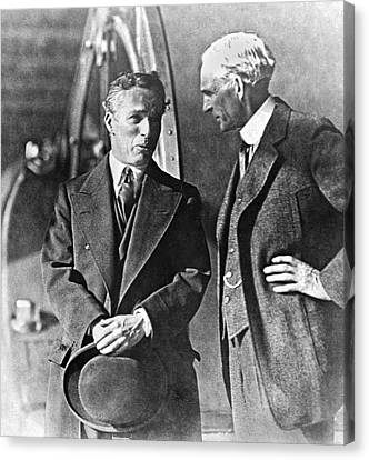 Charlie Chaplin And Henry Ford Canvas Print