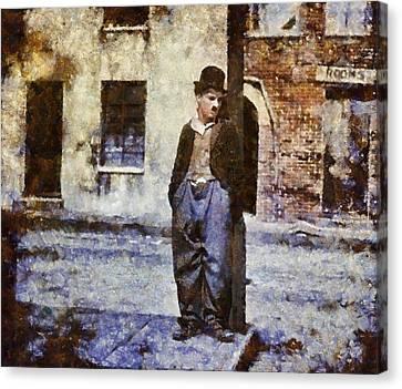 Mansfield Canvas Print - Charlie Chaplin Hollywood Legend by Esoterica Art Agency