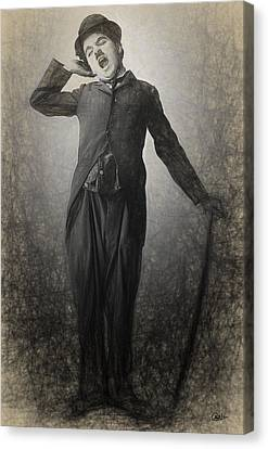 Chaplin Drawn Canvas Print