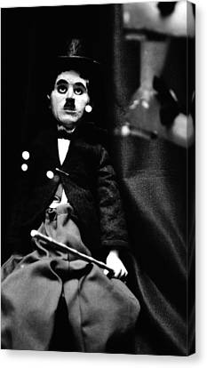 Charlie Chaplin Marionette Canvas Print