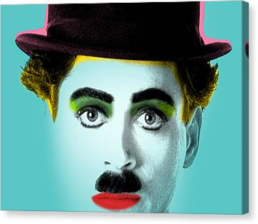 Charlie Chaplin Canvas Print by Mark Ashkenazi