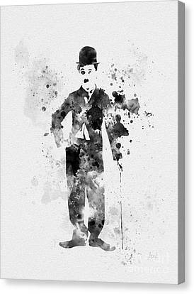 Sir Charles Canvas Print - Charlie Chaplin by Rebecca Jenkins