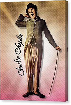 Charlie Chaplin - The Yawn Canvas Print