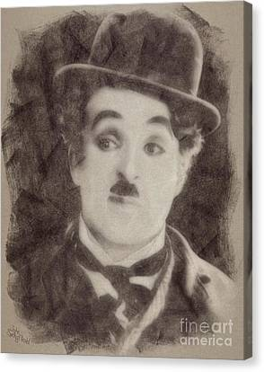 Charlie Chaplin, Vintage Hollywood Legend Canvas Print by John Springfield
