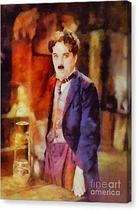 Charlie Chaplin, Vintage Hollywood Legend Canvas Print