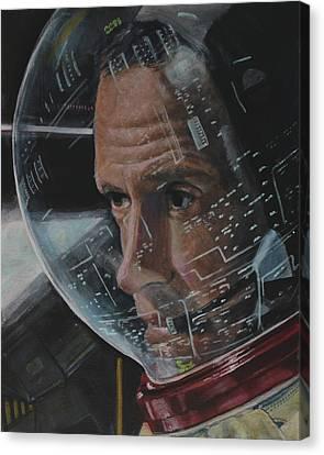 Charlie Duke- Apollo 16 Canvas Print by Simon Kregar