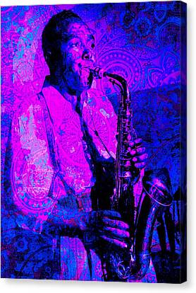 Charlie Parker Canvas Print by Brian Broadway