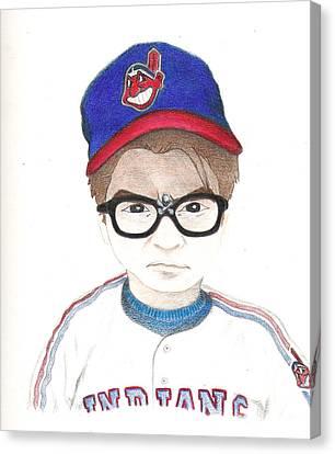Charlie Sheen A.k.a Rick Vaughn Canvas Print by Gerard  Schneider Jr