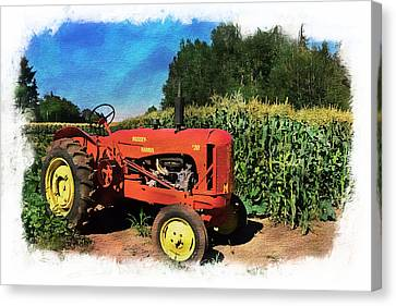 Charlie The Tractor Canvas Print