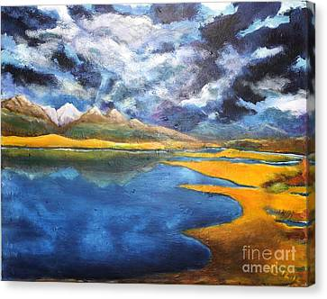 Charlo Morning Canvas Print by Chaline Ouellet