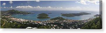 Charlotte Amalie From Above Canvas Print by Gary Lobdell