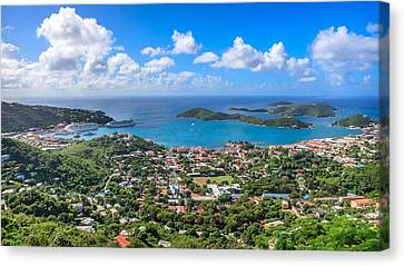 Charlotte Amalie St. Thomas In The Caribbean Canvas Print by Keith Allen