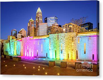 Charlotte At Night Blue Dusk Sky Photo Canvas Print by Paul Velgos
