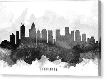 Charlotte Cityscape 11 Canvas Print by Aged Pixel