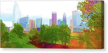 Charlotte Daytime Colors Canvas Print