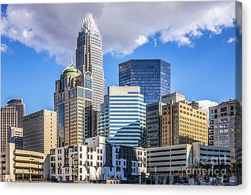 Charlotte Downtown City Buildings Photo Canvas Print by Paul Velgos