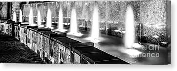 Charlotte Canvas Print - Charlotte Fountain Black And White Panorama Photo by Paul Velgos