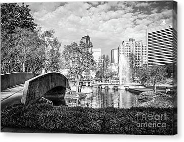 Charlotte Marshall Park Black And White Photo Canvas Print by Paul Velgos