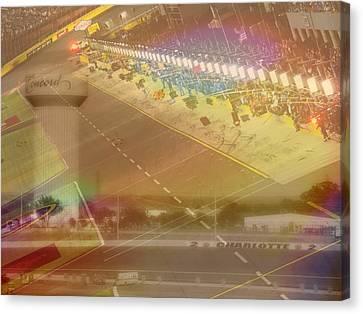 Charlotte Motor Speedway Canvas Print by Kenneth Krolikowski