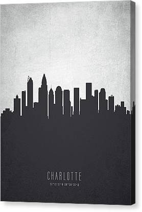 Charlotte North Carolina Cityscape 19 Canvas Print by Aged Pixel