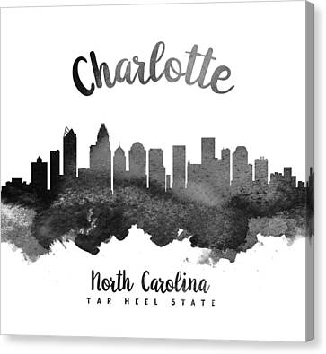 Charlotte North Carolina Skyline 18 Canvas Print by Aged Pixel