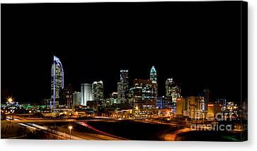 Charlotte Skyline Panoramic Canvas Print