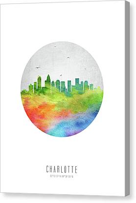Charlotte Skyline Usncch20 Canvas Print by Aged Pixel