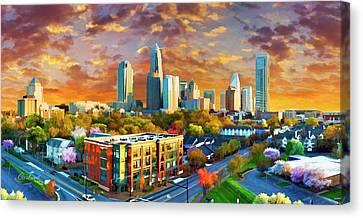 Charlotte Sunset Canvas Print