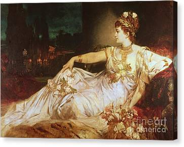 Charlotte Canvas Print - Charlotte Wolter As The Empress Messalina by Hans Makart