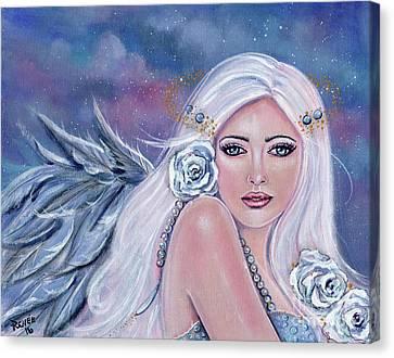 Charmeine Angel Of Harmony Canvas Print by Renee Lavoie