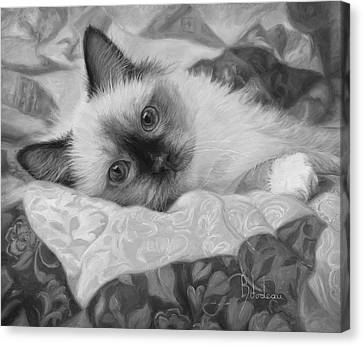 Charming - Black And White Canvas Print
