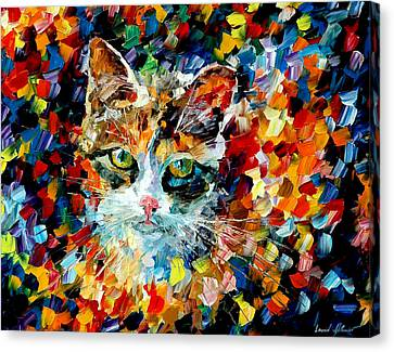 Charming Cat Canvas Print by Leonid Afremov