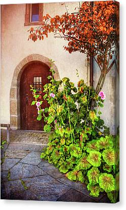 Charming Old Door In Basel  Canvas Print