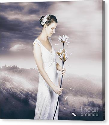 Charming Woman With Romantic Sentiment Canvas Print by Jorgo Photography - Wall Art Gallery
