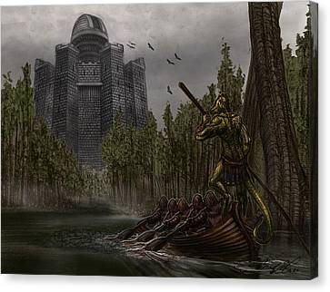 Charon Conveys The Party To Fate Canvas Print by Chad Glass