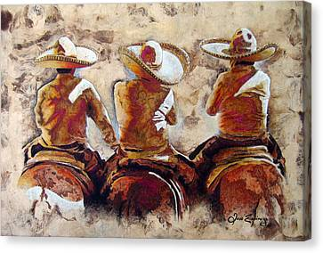 Charros Canvas Print by J- J- Espinoza