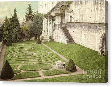 Chartres Labyrinth Garden Canvas Print by Juli Scalzi