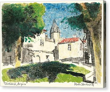 Canvas Print featuring the painting Chartreuse Avignon by Martin Stankewitz