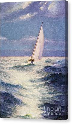 Chas Marer - Sailboat Canvas Print by Hawaiian Legacy Archive - Printscapes