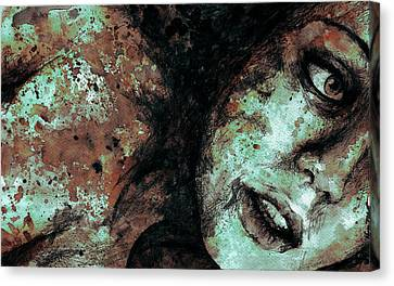 Chase My Blue Away - Rust Canvas Print by Marco Paludet