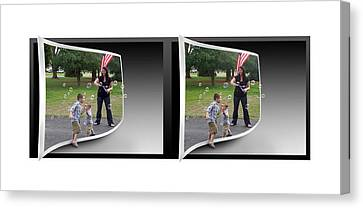 Canvas Print featuring the photograph Chasing Bubbles - Gently Cross Your Eyes And Focus On The Middle Image by Brian Wallace