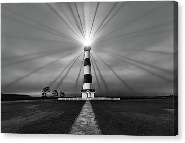 Canvas Print featuring the photograph Chasing Light by Bernard Chen