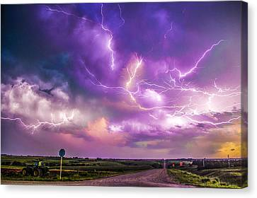 Chasing Nebraska Lightning 056 Canvas Print