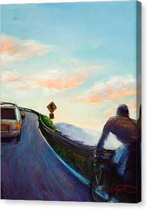 Chasing Sunset Canvas Print by Athena  Mantle