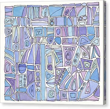 Chasing The Blues Canvas Print by Linda Kay Thomas