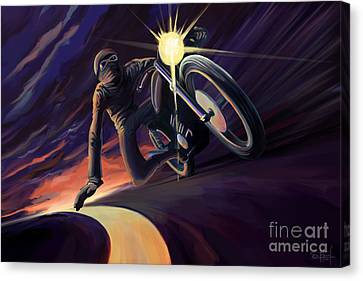 Canvas Print - Chasing The Line Speed Racer by Sassan Filsoof