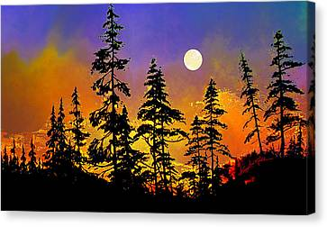 Chasing The Moon Canvas Print by Hanne Lore Koehler