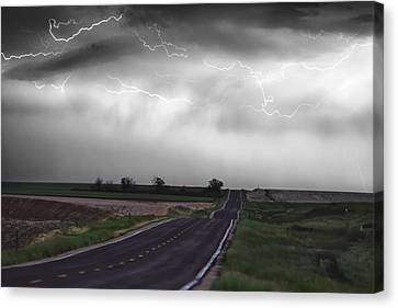 Chasing The Storm - Bw And Color Canvas Print by James BO  Insogna