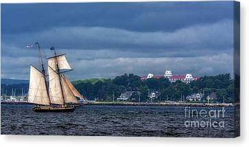 Tall Ship Canvas Print - Chasing The Storm by Scott Thorp